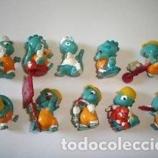 Figuras Kinder: COLECCION COMPLETA DE FIGURAS KINDER, DINO BUILDERS, DINOS EN LA OBRA.. Lote 177426408