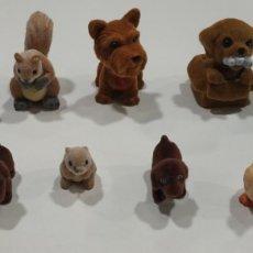 Figuras de Goma y PVC: LOTE DE 12 FIGURAS DE ANIMALES , DE TERCIOPELO. Lote 177430712