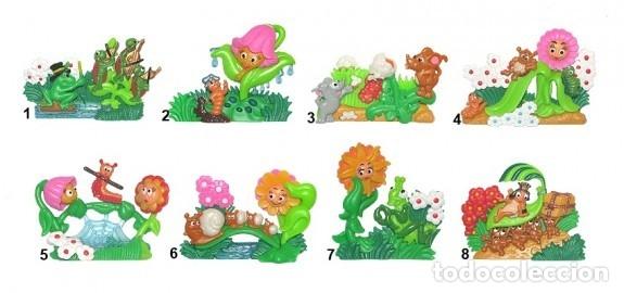 COLECCION COMPLETA DE FIGURAS KINDER, MUY RARA, ALEMANA, KRABBELTIERE. (Juguetes - Figuras de Gomas y Pvc - Kinder)