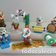 Figuras Kinder: COLECCION COMPLETA DE FIGURAS KINDER, ARDILLAS DE NAVIDAD.. Lote 177490120