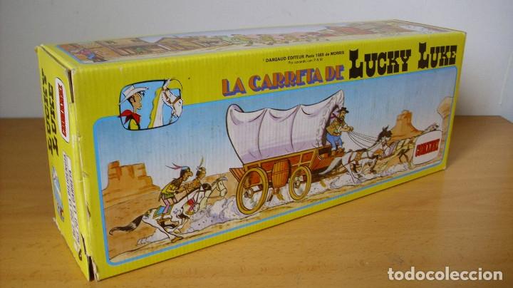 Figuras de Goma y PVC: ANTIGUA CARRETA DE LUCKY LUKE DE COMANSI EN CAJA 1985 - Foto 2 - 177496115