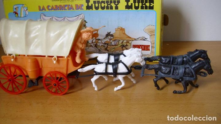 Figuras de Goma y PVC: ANTIGUA CARRETA DE LUCKY LUKE DE COMANSI EN CAJA 1985 - Foto 4 - 177496115