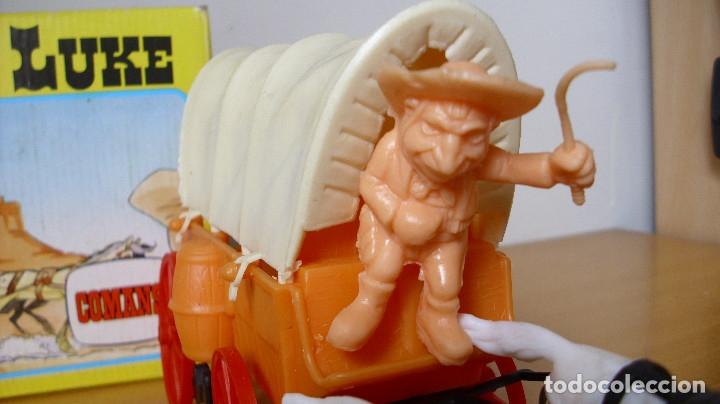 Figuras de Goma y PVC: ANTIGUA CARRETA DE LUCKY LUKE DE COMANSI EN CAJA 1985 - Foto 6 - 177496115