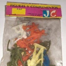 Figuras de Goma y PVC: FIGURAS Y COMPLEMENTOS DE JECSAN, SOLDADOS DE PLÁSTICO FLEXIBLE. Lote 177507810
