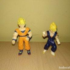 Figuras de Goma y PVC: LOTE FIGURAS PEQEÑAS DRAGON BALL GOKU GOMA, PLASTICO O PVC VEGETA. Lote 177575462
