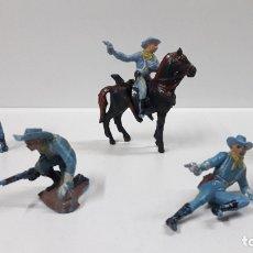 Figuras de Goma y PVC: SOLDADOS FEDERALES - YANKEES . REALIZADOS POR PECH . AÑOS 60. Lote 177592590