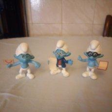 Figuras de Goma y PVC: LOTE DE 3 FIGURAS DE PITUFOS PEYO 2013 MADE FOR MAC DONALD´S . Lote 177614972