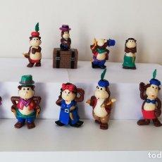 Figuras Kinder: COLECCION COMPLETA DE FIGURAS KINDER, MONOS INDIOS.. Lote 177724682