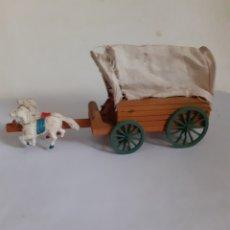 Figuras de Goma y PVC: CARAVANA CARRETA MINI OESTE PECH,JECSAN,REAMSA. Lote 177879975