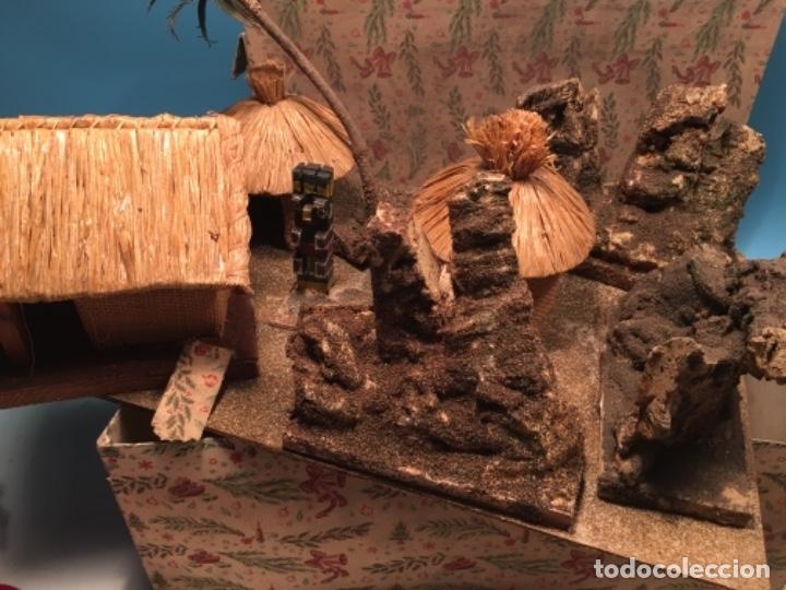 Figuras de Goma y PVC: CONJUNTO DIORAMA GRAN TAMAÑO CHOZAS PARA FIGURAS - Foto 2 - 177934902