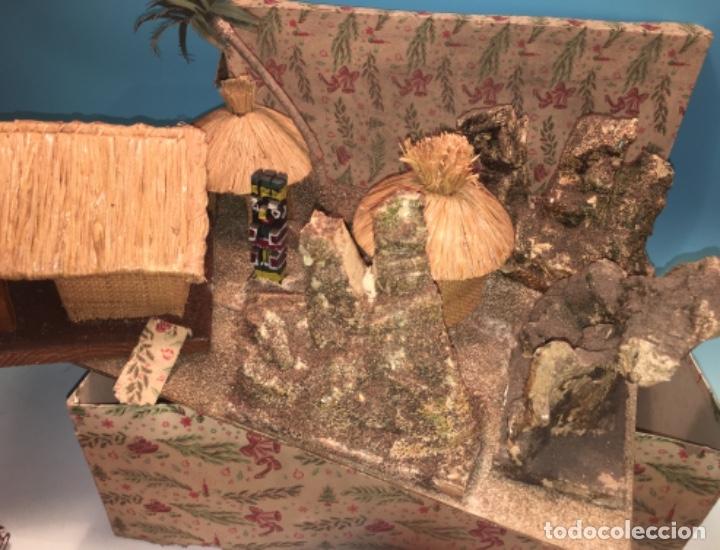 Figuras de Goma y PVC: CONJUNTO DIORAMA GRAN TAMAÑO CHOZAS PARA FIGURAS - Foto 4 - 177934902