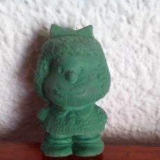Figuras de Goma y PVC: MUÑECO MUÑECA FIGURA PVC GOMA MAFALDA QUINO VERDE. Lote 177937608