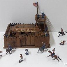 Figuras de Goma y PVC: FUERTE FORT - SILL . REALIZADO POR MANUEL RAMIREZ . TODO EN MADERA . AÑOS 50 . FIGURAS NO INCLUIDAS. Lote 178002418