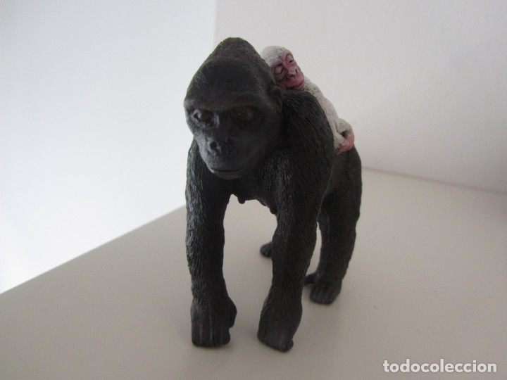 Figuras de Goma y PVC: FIGURA SCHLEICH CUSTOM COPITO DE NIEVE BEBÉ ALBINO GORILA - Foto 5 - 178009087