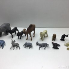 Figuras de Goma y PVC: GRAN LOTE DE 14 FIGURAS DE PLASTICO-GOMA - ANIMALES VARIOS- AÑOS 70/80. Lote 178101669