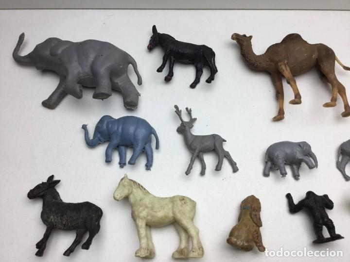 Figuras de Goma y PVC: GRAN LOTE DE 14 FIGURAS DE PLASTICO-GOMA - ANIMALES VARIOS- AÑOS 70/80 - Foto 8 - 178101669