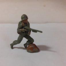 Figuras de Goma y PVC: FIGURA SOLDADO AMERICANO JECSAN,REAMSA,PECH EN PLASTICO. Lote 178263647