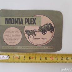 Figuras de Goma y PVC: MONTAPLEX SOBRE CARRETA OESTE MONTA PLEX SOBRE PEQUEÑO ABIERTO. . Lote 178379161
