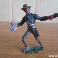 Figuras de Goma y PVC: FIGURA ANTIGUA VAQUERO DEL OESTE ( PECH , JECSAN , REAMSA , TEIXIDO , OLIVER , COMANSI , ETC). Lote 178379176