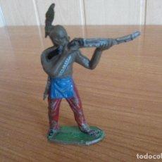 Figuras de Goma y PVC: FIGURA ANTIGUA INDIO OESTE ( PECH , JECSAN , REAMSA , TEIXIDO , OLIVER , COMANSI , ETC). Lote 178380150