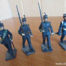 Figuras de Goma y PVC: LOTE 4 SOLDADOS ANTIGUOS ( PECH , JECSAN , REAMSA , TEIXIDO , OLIVER , COMANSI , ETC). Lote 178381681