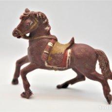 Figuras de Goma y PVC: ANTIGUA FIGURA EN PLÁSTICO. CABALLO TEIXIDO. SERIE SOLDADOS ESPAÑOLES.. Lote 178618316