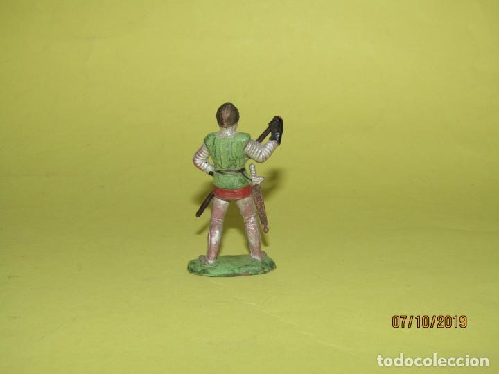 Figuras de Goma y PVC: Antiguo Guerrero Medieval en Goma REAMSA Nº 117 Serie Caballeros Cruzados - Año 1950s. - Foto 2 - 178762322