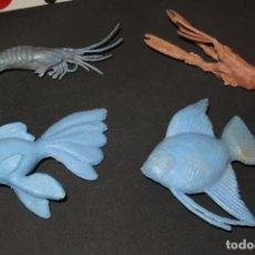Figuras de Goma y PVC: 4 ANIMALES ACUÁTICOS DE JECSARAMA,JECSAN,AÑOS 70. Lote 178781671