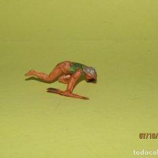 Figuras de Goma y PVC: ANTIGUO VAQUERO COW BOY DESMONTABLE EN GOMA PINTADA DE GAMA. Lote 178788202