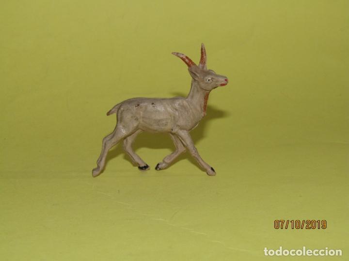 Figuras de Goma y PVC: Antigua Gacela en Goma Pintada de PECH Serie Fieras - Foto 2 - 178788973