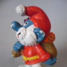 Figuras de Goma y PVC: LOS PITUFOS SMURFS PITUFO PAPA NOEL PVC PEYO SCHLEICH GERMANY 1981. Lote 178789860