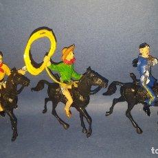 Figuras de Goma y PVC: COMANSI - VAQUEROS - FIGURAS DEL OESTE. Lote 178800581