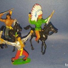Figuras de Goma y PVC: COMANSI - INDIOS- FIGURAS DEL OESTE. Lote 178800661