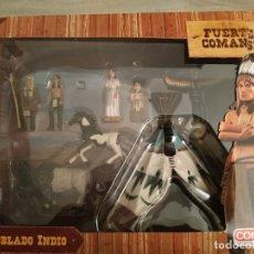 Figuras de Goma y PVC: POBLADO INDIO FUERTE COMANSI. Lote 178809103