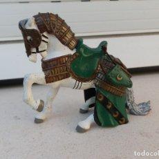 Figuras de Goma y PVC: FIGURA CABALLO MEDIEVAL DE PAPO.. Lote 179009778