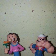 Figuras de Goma y PVC: LOTE FIGURAS PVC GOMA POPEYE Y OLIVIA COMICS SPAIN MUÑECOS DIBUJOS ANIMADOS COLECCIÓN AÑOS 80 90. Lote 179084592