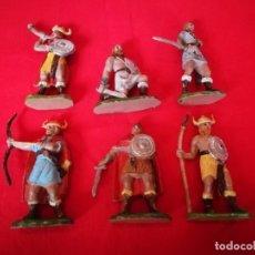 Figuras de Goma y PVC: 6 FIGURAS VIKINGOS JECSAN. Lote 179189762