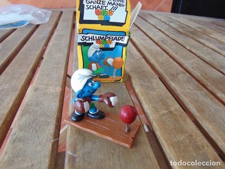 MUÑECO FIGURA PITUFO DE SCHLEICH BOXEADOR EN SU CAJA ORIGINAL (Juguetes - Figuras de Goma y Pvc - Schleich)