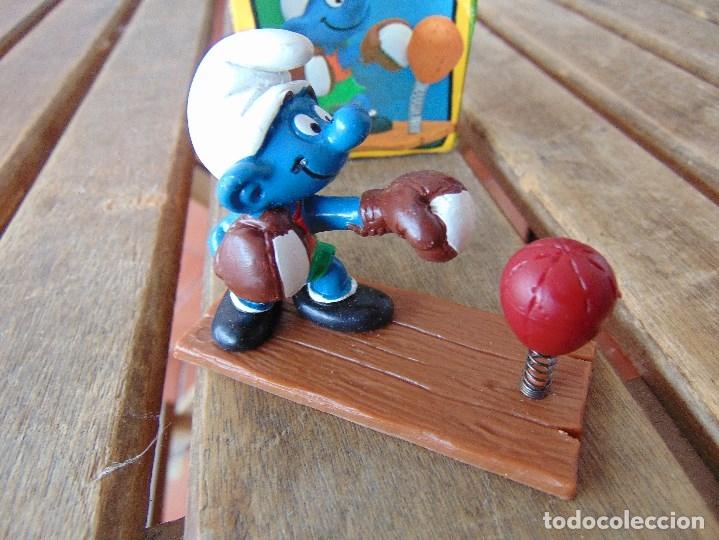 Figuras de Goma y PVC: MUÑECO FIGURA PITUFO DE SCHLEICH BOXEADOR EN SU CAJA ORIGINAL - Foto 2 - 179191462
