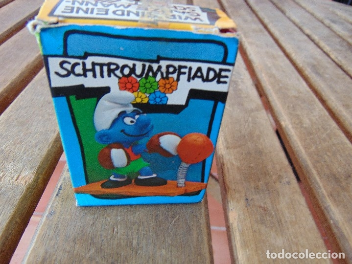 Figuras de Goma y PVC: MUÑECO FIGURA PITUFO DE SCHLEICH BOXEADOR EN SU CAJA ORIGINAL - Foto 3 - 179191462