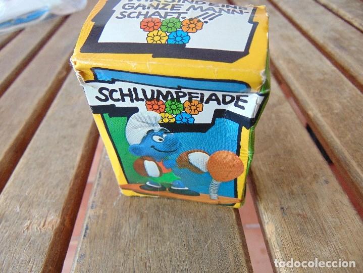 Figuras de Goma y PVC: MUÑECO FIGURA PITUFO DE SCHLEICH BOXEADOR EN SU CAJA ORIGINAL - Foto 4 - 179191462