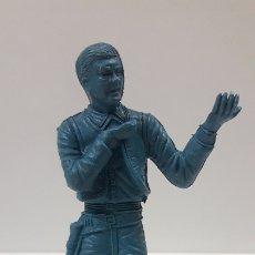 Figuras de Goma y PVC: VAQUERO - COWBOY . POSIBLEMENTE REALIZADO POR COMANSI . SERIE GRANDE . EN PLASTICO MONOCOLOR. Lote 179191590