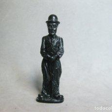Figuras de Goma y PVC: FIGURA DE CHARLOT EN PLÁSTICO NEGRO DURO - AÑOS 70. Lote 179223343