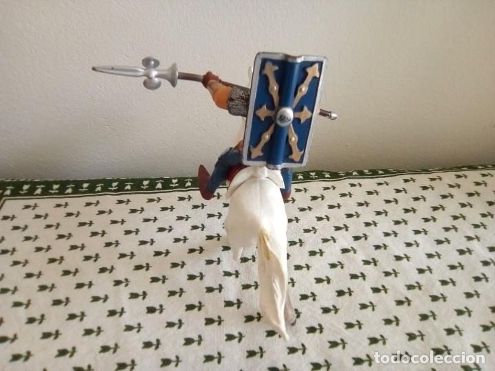 Figuras de Goma y PVC: SOLDADO ROMANO CON LANZA Y ESCUDO A CABALLO DE PAPO 1999 - Foto 4 - 179242492
