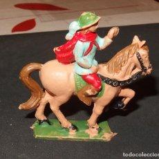Figuras de Goma y PVC: CABALLERO CON CABALLO,PLÁSTICO,REAMSA,AÑOS 60. Lote 179242768