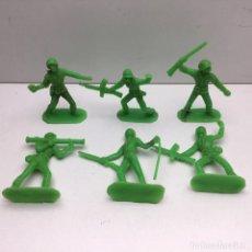 Figuras de Goma y PVC: 6 FIGURAS - SOLDADITOS - COLOR VERDE | PECH, JECSAN, REAMSA, TEIXIDO, OLIVER, COMANSI. Lote 179250932