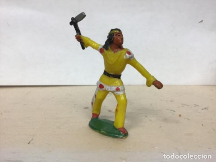 Figuras de Goma y PVC: RARO INDIO MICHEL STARLUX AÑOS 50/60 No Pech Reamsa Jecsan Comansi Lafredo - Foto 2 - 179537845