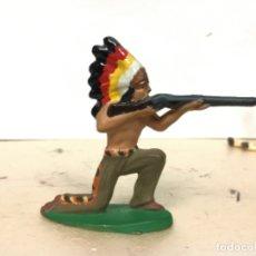 Figuras de Goma y PVC: RARO INDIO MICHEL STARLUX AÑOS 50/60 NO PECH REAMSA JECSAN COMANSI LAFREDO. Lote 179538801