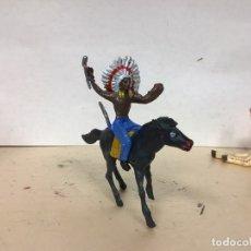 Figuras de Goma y PVC: FIGURA INDIO COMANSI OESTE WESTERN NO PECH REAMSA JECSAN LAFREDO. Lote 179558615
