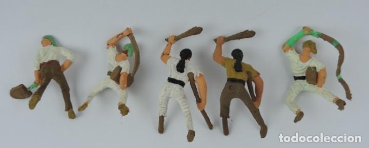 Figuras de Goma y PVC: 5 FIGURAS DE PIRATAS, PIRATA PATA PALO, LATIGO, PALA, MIDEN 7 CMS. APROX. - Foto 2 - 179945703